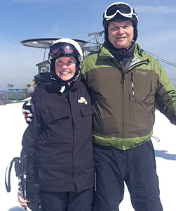 Sue and John on the slopes